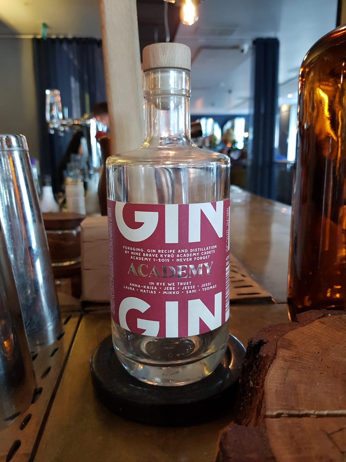 Kyrö Distillery Company Academy bottle.