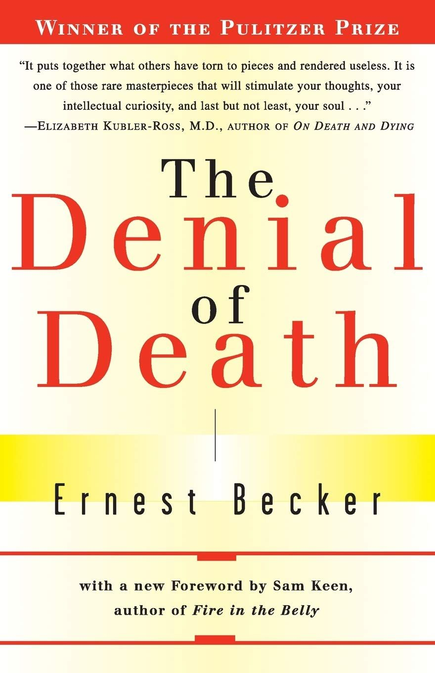 The Denial of Death by Ernest Becker book cover on the LBS website